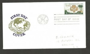 1962 Canal Zone 156 Girl Scouts FDC - Van Dahl