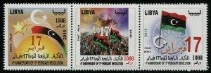 HERRICKSTAMP NEW ISSUES LIBYA Sc.# 1799 4th Anniversary of Revolution