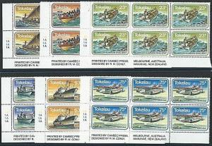 TOKELAU 1983 Transport set in plate blocks of 6 MNH........................41470