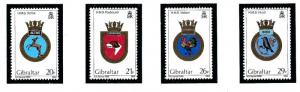 Gibraltar 465-68 MNH 1984 Royal Navy Ship Crests