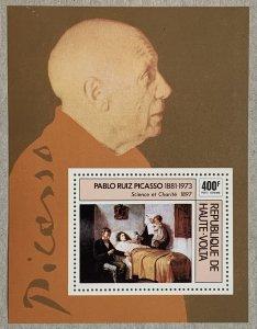 Burkina Faso 1975 Picasso painting MS,  MNH. Scott C222, CV $3.50