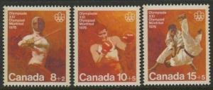 Canada B7-9 MNH Sports, Boxing, Judo, Fencing