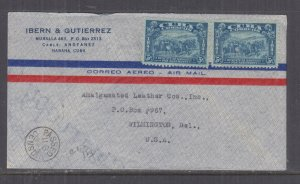 HAVANA,1942 Airmail Censored cover to USA, 10c.