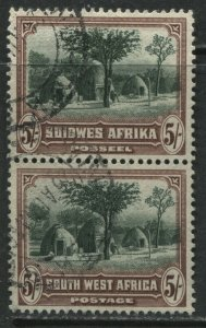South West Africa 1931 5/ vertical used pair