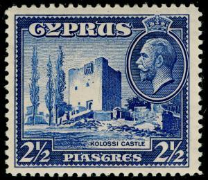 CYPRUS SG138, 2½pi ultramarine, M MINT.