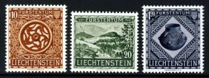 LIECHTENSTEIN 1953 Opening of National Museum Vaduz Set SG 317 to SG 319 MINT