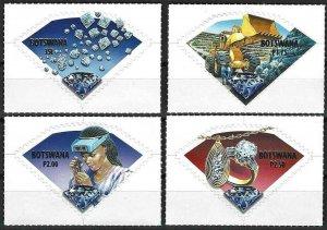 2001 Botswana Beautiful Minerals, Diamonds, complete set VF/MNH! LOOK!