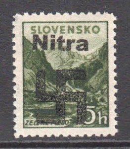 CZECHOSLOVAKIA NITRA LOCAL FELDPOST OVERPRINT OG NH U/M XF BEAUTIFUL GUM