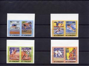 St.Vincent L.A.Olympics S.O set (8) Imperf.mnh.Scott 765/68