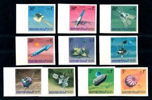 [94393] Manama Ajman 1968 Space Travel Weltraum Imperf. MNH