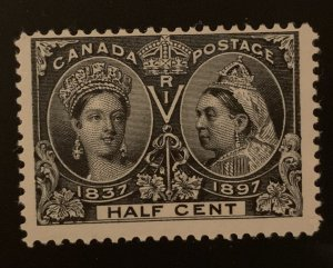 Canada #50 F-VF Mint LH Jubilee -- With 3 jumbo Margin