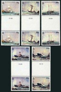 Alderney 32-36 gutter,MNH.Michel 32-36. Shipwrecks 1987