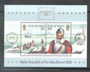 Isle of Man Sc311a 1986 Ameripex Plymouth stamp sheet
