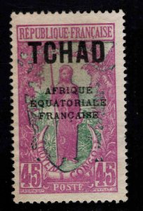 Chad TCHAD Scott 35 MH* overprinted stamp