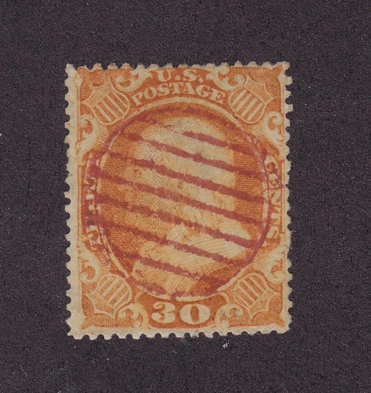 38 VF used neat Red cancel with nice color cv $ 475 ! see pic !