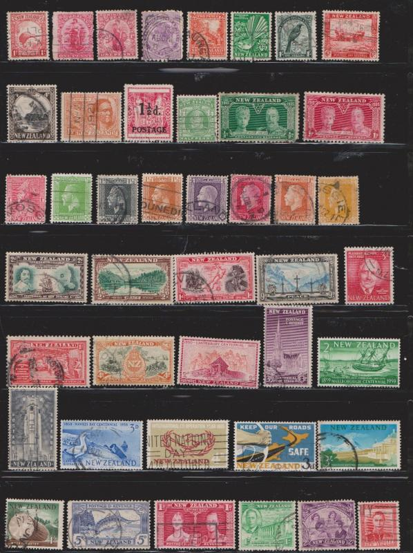 NEW ZEALAND  - Lot Of Older Used Stamps #6 - Good Variety