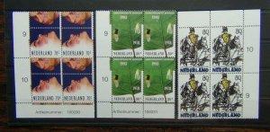 Netherlands 1993 Anniversaries in blocks 4 MNH SG1668 - SG1670
