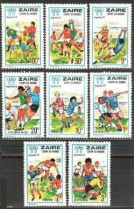 1978 Zaire 558-565 1978 FIFA World Cup in Argentina