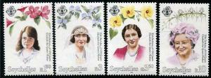 HERRICKSTAMP SEYCHELLES Sc.# 771-74 Queen Mother 95th Birthday