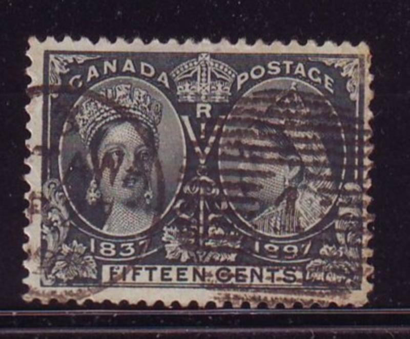 Canada Sc 58 1897 15 c Victoria Jubilee stamp used