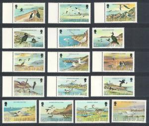 Isle of Man Marine Birds 16v COMPLETE 1983 MNH SC#224-239 SG#232-247