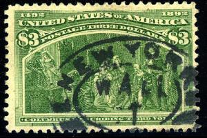 U.S. #243 Used F-VF Sm thins