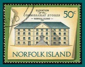 Norfolk Island 1973 Buildings 1, 50c used  #170,SG147