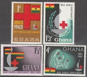 Ghana #139-42 MNH CV $4.20 (S1046)