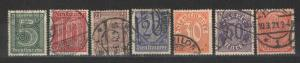 Germany 1920 Sc# OL9-OL15 East Prussian Officials Used LH/H VF