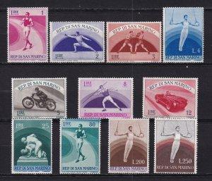 1954-55 - SAN MARINO - Scott #345-355 - MNH**