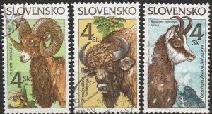 Slovakia, #249-251  Used , From 1996,  CV-$0.75