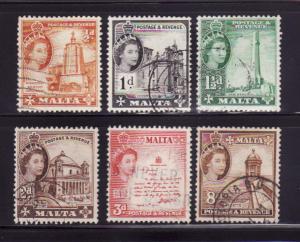 Malta 247-250, 252, 255 U Queen Elizabeth II