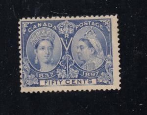 CANADA# 60 MNH 50cts ULTRAMARINE DIAMOND JUBILEE CAT VALUE $450