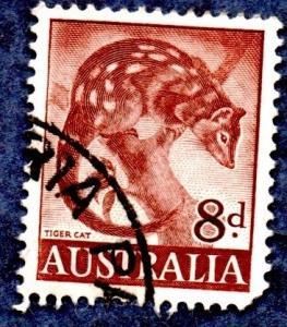 Australia Scott #321 Tiger Cat (1960) used