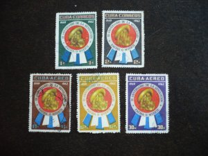 Stamps - Cuba - Scott# 701-702,C226-C228 - Used Set of 5 Stamps