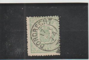 Netherlands  Scott#  19  Used  (1869 Coat of Arms)
