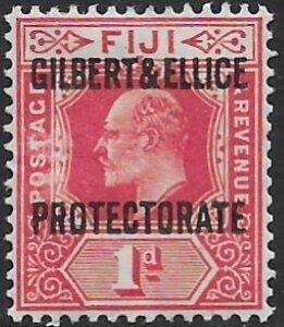 Gilbert & Ellice 2  1911   1d  fine mint -- NG