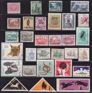 30 Different F-VF Used Poland Stamps # 1  - I Combine S/H