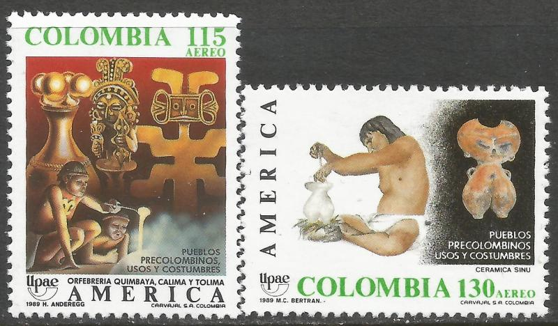 COLOMBIA C809-10 MNH UPAE Z5025