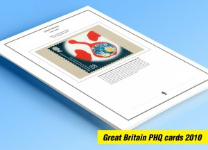 COLOR PRINTED GREAT BRITAIN 2010 PHQ CARDS STAMP ALBUM PAGES (141 illust. pages)