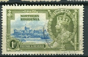 NORTHERN RHODESIA; 1935 early GV Jubilee issue fine used 1d. value