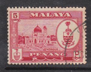 Malaya Penang 1960 Sc 59 5c Used
