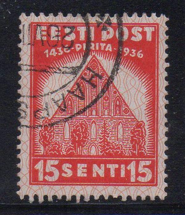 Estonia Sc 136 1936 15s St Brigitta Convent stamp used