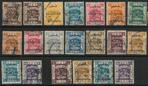 60945 -  PALESTINE - STAMPS:  SG # 71/82 + 86/89 + 88/89   Used - VERY FINE!!