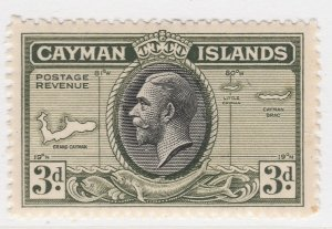 British Colony Cayman Islands 1935 3d MH* Stamp A22P19F8950