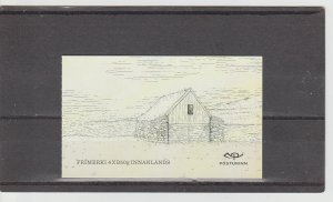 Iceland  Scott#  1383a  MNH Complete Booklet  (2015 Old Buildings)