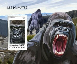 HERRICKSTAMP NEW ISSUES CENTRAL AFRICA Monkeys S/S