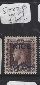 NIUE   (PP0310B) ON NZ  KGV  3D  SG  20B   MOG