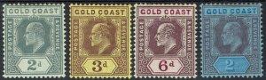 GOLD COAST 1907 KEVII RANGE TO 2/-