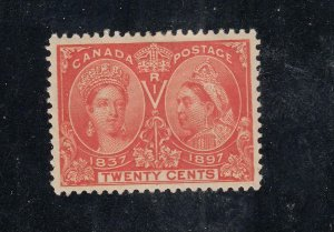 CANADA # 59 VF-MLH 20cts DIAMOND JUBILEE CAT VALUE $400